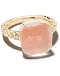 Pomellato 18kt Rose Gold Stone Ring - Pink