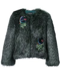 Saloni - Faux Fur Jacket - Lyst