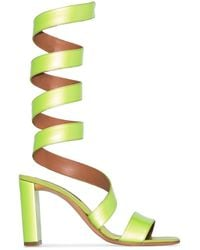 Y. Project 100mm Wrap-around Sandals - Yellow