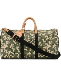 Louis Vuitton X Takashi Murakami Pre-owned Keepall Bandouliere 55 Traveling Bag - Green