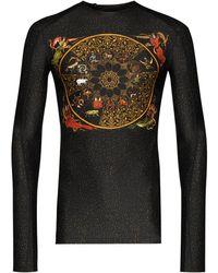 GmbH Luna Rashguard プリント ロングtシャツ - ブラック