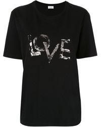 Saint Laurent - Love Print T-shirt - Lyst
