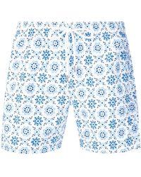 Eleventy - Patterned Swim Shorts - Lyst