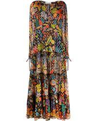 RIXO London Lori Floral Print Dress - Black