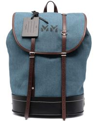 Maison Margiela ドローストリング バックパック - ブルー