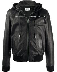 Saint Laurent Куртка На Молнии С Капюшоном - Черный
