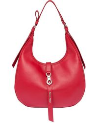 Miu Miu Hobo Shoulder Bag - Red