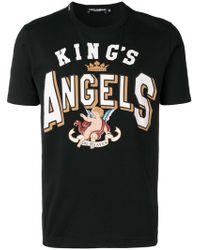 Dolce & Gabbana - Camiseta King's Angels estampada - Lyst