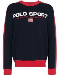 Polo Ralph Lauren Sweater Met Contrasterende Strepen - Blauw