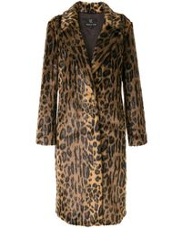 Unreal Fur Cappotto con stampa - Marrone