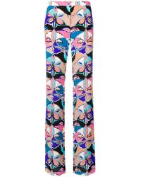Emilio Pucci - Graphic High-waisted Trousers - Lyst