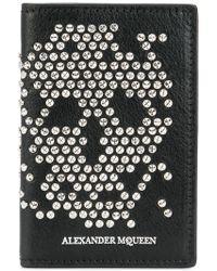 Alexander McQueen Cartera con aplique de calavera - Negro