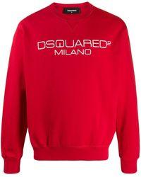 DSquared² Sweat à logo imprimé Milano - Rouge