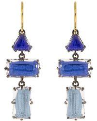 Larkspur & Hawk Boucles d'oreilles pendantes Caterina en or 14ct - Métallisé