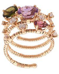 Mattia Cielo 18kt Rose Gold Diamond Ring - Metallic