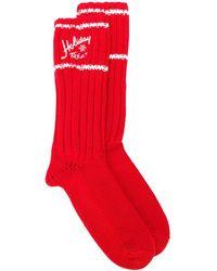 Philosophy Di Lorenzo Serafini Festive Knitted Socks - Red