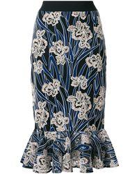 Three Floor Valentina Floral Mermaid Skirt