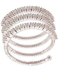 Mattia Cielo 18kt White Gold Three Circle Ring - Metallic