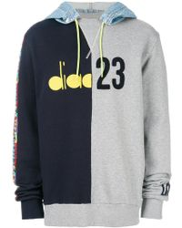 Diadora - Colour-block Hooded Sweatshirt - Lyst