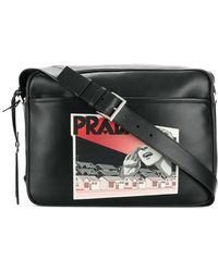 Prada | Comic Logo-print Shoulder Bag | Lyst