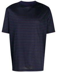 Lanvin Gestreept T-shirt - Blauw