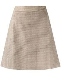 A.P.C. Sonia Houndstooth A-line Mini Skirt - Brown