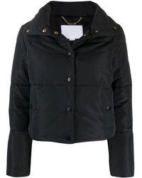 Elisabetta Franchi キルティング コート - ブラック
