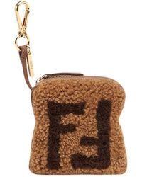 Fendi Toast Ff-logo Bedel - Bruin