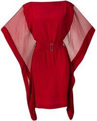 Hermès Vestito stile kimono - Rosso