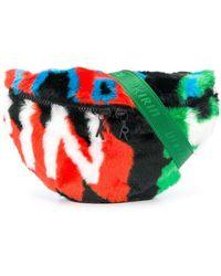 Kirin Colour-block Belt Bag - Green
