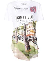 Monse アシンメトリー Tシャツ - ホワイト