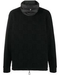 Emporio Armani チェック スウェットシャツ - ブラック