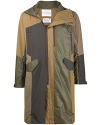 White Mountaineering Shirring フーデッドコート - マルチカラー