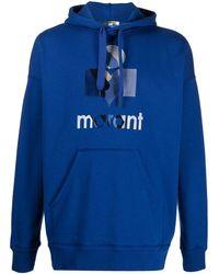 Isabel Marant Hoodie mit Logo-Print - Blau