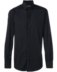 Dolce & Gabbana Hemd mit Kronen-Print - Schwarz