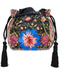 Etro - Mixed Print Drawstring Pouch Bag - Lyst