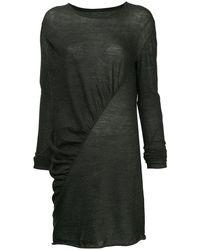 Uma Wang Asymmetric Longline Top - Gray