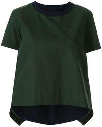 Sacai - パネルシャツ - Lyst