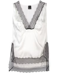 Pinko - Lace Detailed Vest Top - Lyst