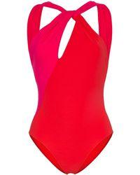 Araks Venetia Two-tone Swimsuit - Red