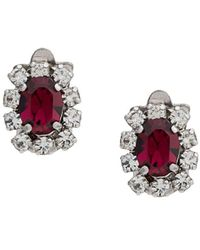 Christian Dior x Susan Caplan 1978 Embellished Earrings - Metallic