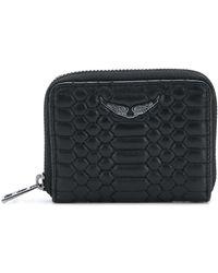 Zadig & Voltaire ファスナー財布 - ブラック