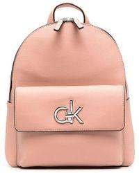 Calvin Klein Рюкзак Из Искусственной Кожи С Логотипом - Розовый