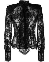 Dolce & Gabbana ボウタイ トップ - ブラック