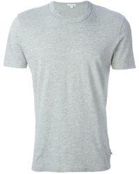James Perse - Round Neck T-shirt - Lyst
