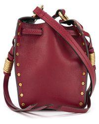 Isabel Marant Radja Studded Bucket Bag - Red