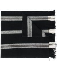 Isabel Marant ストライプディテール スカーフ - ブラック