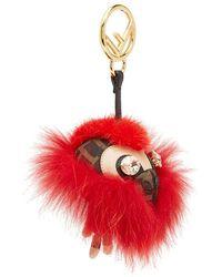 Fendi Space Monkey Charm - Red