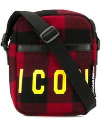 DSquared² - Icon Plaid Messenger Bad - Lyst