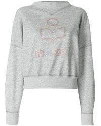 Étoile Isabel Marant - Odilon Logo Printed Sweatshirt - Lyst